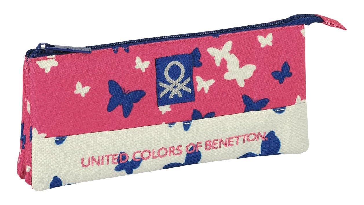 Benetton- Butterfly Estuche portatodo Triple (SAFTA 811653744)