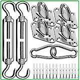 Kit de matériel pour voiles d'ombrage - Kit d'installation de pare-soleil en acier inoxydable 304 - 15,2 cm - pour installer
