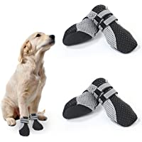 No-Branded EACHPT 4PCS Scarpe per Cani Impermeabili Stivali Protettivi per Cani Antiscivolo con Cinturino Riflettente…