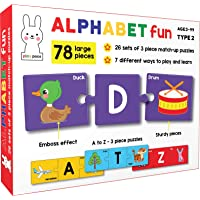 Play Poco Alphabet Fun Type 2 - 78 Piece Alphabet Matching Puzzle - 7 Different Ways to Play and Learn - Includes 78…