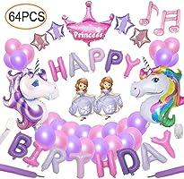 64pcs Unicorn Party Decoration Supplies Yidaxing 2pcs Enorme Palloncino Unicorno 1pcs Buon Compleanno Ballon Banner e...