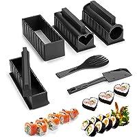 Sushi Maker Kit 10 Pièces Moules à Sushi Kit de Sushi Cuisine Bricolage Facile Sushi Set Riz Rouleau DIY Cuisine Coffret…