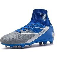 DREAM PAIRS Boys Girls High-Top Football Boots Soccer Cleats Shoes Toddler/Little Kid/Big HZ19002K