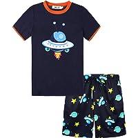 Irevial Pigiama Bambino Caldo Cotone,Pigiama Ragazzo per 4-15 Anni Invernale,Camicia a Maniche Lunghe e Pantaloni con…