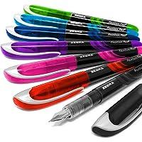 Zebra Fountain, 7 penne stilografiche usa e getta, una di ogni colore
