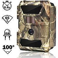 """WingHome Wildkamera Fotofalle Full HD 12MP 1080P Überwachungskamera No Glow 20M Nachtsichtkamera mit Bewegungsmelder mit 2.4"""" LCD Display wasserdichte Jagdkamera weitwinkel für Sicherheitsüberwachung"""