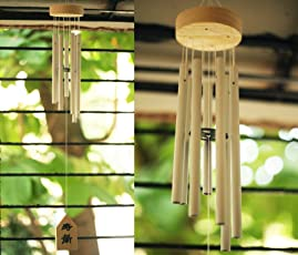 Paradigm Pictures Colorful Wind Chimes for Home Positive Energy (Silver 7 Pipe)