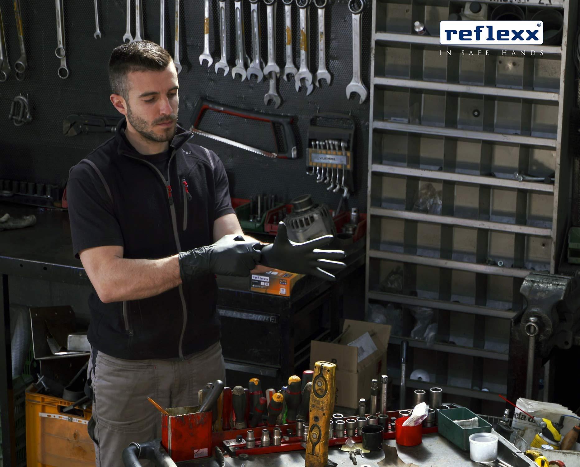 Reflexx-N79P-Guanti-in-Nitrile-senza-Polvere-Extra-Lungo