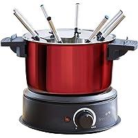 senya Appareil électrique Fondue Time 8 fourchettes, caquelon INOX Amovible 1,4L 1500W, SYCK-F001, 1500 W, 1.4 liters