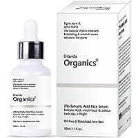 Dravida Organics 2% Salicylic Acid Serum For Acne, Blackheads & Open Pores | Reduces Excess Oil & Bumpy Texture | BHA…