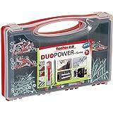 fischer RED-BOX DUOPOWER + Schrauben, Sortimentbox, 280-teilig mit Schrauben & DUOPOWER Dübeln in verschiedenen Größen, vorso
