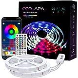20M LED Strip, COOLAPA LED Streifen RGB 5050, LED Stripes mit 40 Tasten IR-Fernbedienung APP Steuerbar Musikmodus, 12V 360 LE