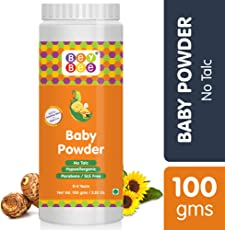 Bey Bee : Natural Baby Powder for New Born Babies & Kids | No - Talc | Made-Safe Certified | Hypoallergenic | Parabens & SLS Free | Blossoms | Mild Fragrance | 100 gm