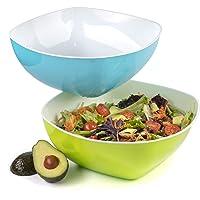 Saladier geant plastique dur grand bol salade micro onde - Lot de 2