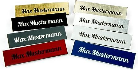 Schulz & Söhnlein 2er Set Premium Türschild selbstklebend - Namensschild für die Haustür/Klingelschild mit Namen - verschiedene Farben
