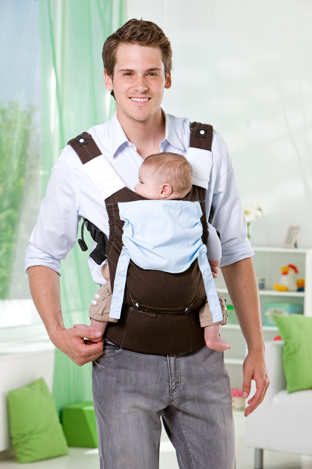 Amazonas Baby Smart Carrier - Earth AMAZONAS Waist belt length: 78 - 145 cm Flexible bridge: approx. 26 - 33 cm Load capacity: max. 3.5 - 15 kg 2