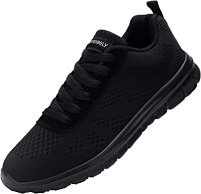 DYKHMILY Safety Shoes for Men Women Steel Toe Cap Work Trainers Lightweight Breathable Safety Sneakers Anti-Puncture