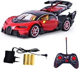 Amitasha Bugatti Style Remote Control Rechargeable Car With Opening Doors - Assorted