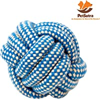 PetSutra Dog Rope Toys for Chewing and Teething Dogs, Puppies & Cats (Multiple Colors) (Multi Designs) (Rope Ball Toy)