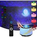 Sternenhimmel projektor mit Nachtlicht sternenhimmel Mond- und Nebeleffekt/Bluetooth Sprachsteuerung /Rotierende Ozeanwelle /