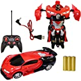 UNIQUEBUYIN Plastic Remote Control Robot Car with Light and Sound for Kids, 2 to 8 Years (Multicolor)