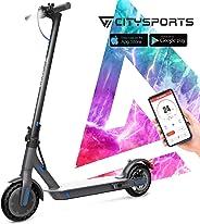 CITYSPORTS Monopattino Elettrico con 8,5 Pneumatici, E-Scooter Pieghevole, Bluetooth e Batteria a Lungo Raggio, Scooter Elett