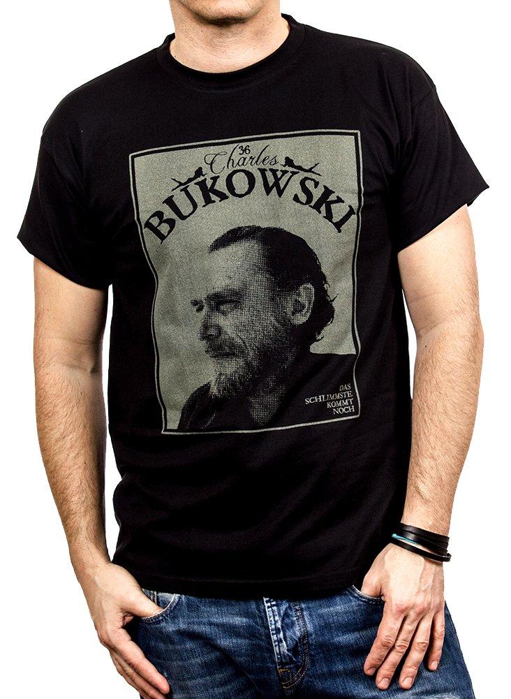 36e999a1d66ab Camisetas Con Frases Originales – Chalres Bukowski – Negra M
