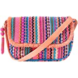 Back Stitch Weave Hues Sling Bag