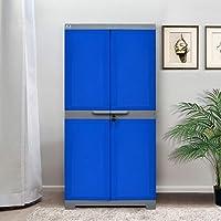 Nilkamal Plastic Storage Cabinet | FMM Wardobe_Blue and Grey