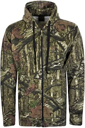 Mens Jungle Camouflage Fishing Hunting Fleece Zip Hoodie Jacket Plus Sizes S-5XL