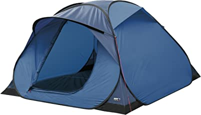 High Peak Pop up Wurfzelt Hyperdome 3, hellblau/blau, 210 x 210 x 130 cm, 10148, 3 Personen