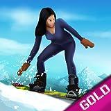 Downhill Snowboard winter sport di montagna: la corsa neve fredda - gold edition