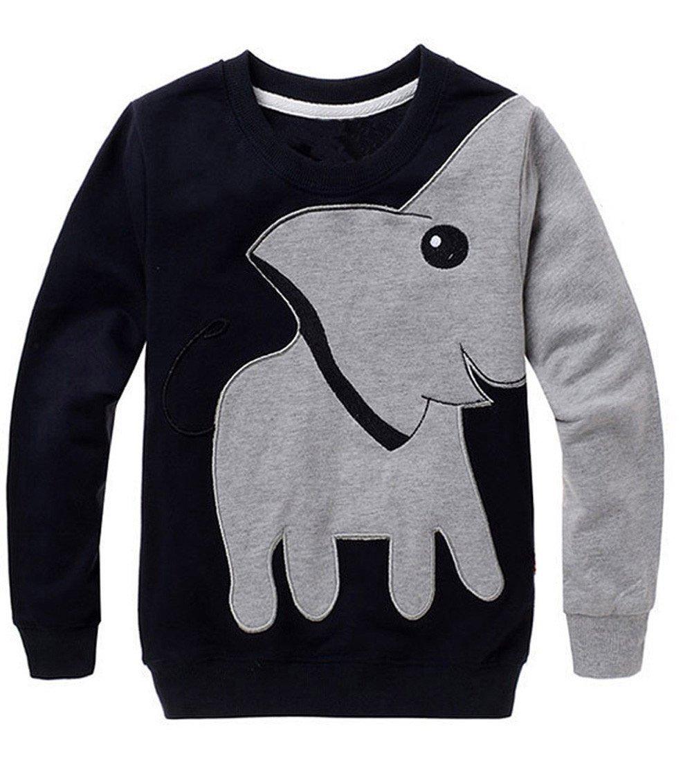 1-5 años bebé niña niño Elefante Impreso Blusa Tops Sudadera Camiseta Manga Larga Jersey 1