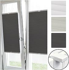 Sol Royal Plissee Klemmfix SolDecor P26 - Diverse Farben und Größen - Plisseerollo Ohne Bohren - Rollo Fenster & Türen
