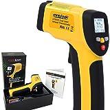 Thermomètre Infrarouge à Double Visée Laser Sans Contact -50°C à 650°C - Thermometre Laser IR ennoLogic (TM) eT650D avec Précision Digitale