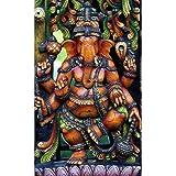Pitaara Box Hindu God Ganesh D3 Canvas Painting Mdf Frame 14 X 23Inch