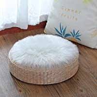 KAIHONG Faux Peau de Mouton en Laine Tapis 30 x 30 cm Imitation Toison Moquette Fluffy Soft Longhair Décoratif Coussin…