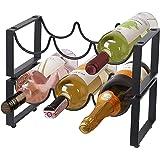 Amazon Brand - Umi Casier à vin Range Bouteille vin en métal autoportant Le Bar à la Maison, 6 Bouteilles