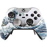 eXtremeRate The Great Wave Patterned Soft Touch Front Housing Shell Faceplate for Microsoft Xbox One Elite Controller…