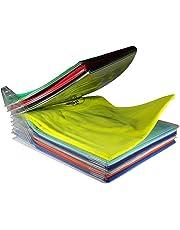 Techsun T-Shirt Organizer Anti-Wrinkle Clean Clothes Storage Organizer Holder Rack Ezstax T-Shirt Organization System Travel Closet Organizer - Pack of 10 Sheet