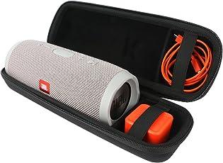 Khanka EVA Hart Fall Reise Tragen Tasche für Harman/Kardon JBL Charge 3 Stereo 20W Tube Tragbare Wireless Bluetooth Lautsprecher, Passend für Ladegeräte und Kabel