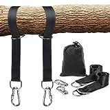 Schaukel Befestigung, Hängematte Befestigung für Bäume geeignet 2 x 150cm, mit 2 Schwerlast Karabinern und D-Ringen, Polyestergurte perfekt für Hängematten, hält bis zu 1000 kg mit Aufbewahrungstasche