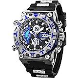 Sport Watch LED Digital Wrist Large Face Military SIBOSUN Men Alarm Date