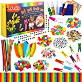 Caydo Box Pack Kids Arts and Crafts Kits - 1200 Pcs 19 Styles Colorful and Creative kits including Pipe Cleaners, Pom…