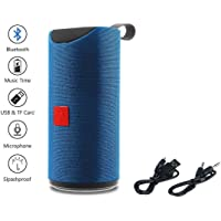 Rewy WT113 Splashproof + Waterproof High Bass Sound Wireless Bluetooth Speaker with USB/AUX & SD Card Support Compatible with All Devices - Assorted Colour