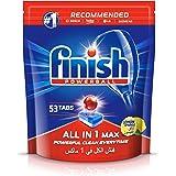 اقراص مسحوق تنظيف الصحون لغسالة الصحون من فِنش، الكل في واحد، 53 قرص