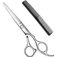 Hbaid Haarschere, Premium Friseurscheren Extra scharfe Friseurschere Edelstahl Haarschneideschere mit Kamm, Präziser…