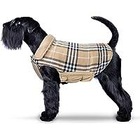IREENUO Hund umkehrbar Schottenkaro Mantel Herbst Winter warme gemütliche Weste Britischen Stil Hund gefütterte Jacke…