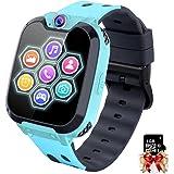 Reloj Inteligente Niño con Mp3 Musica - 7 Juegos Smartwatch Niños, Reloj Inteligente Niña, Relojes Smart Realiza Llamadas Men
