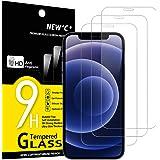 "NEW'C 3 Unidades, Protector de Pantalla para iPhone 12 Mini (5.4""), Antiarañazos, Antihuellas, Sin Burbujas, Dureza 9H, 0.33"